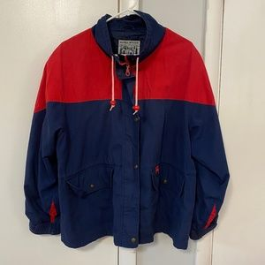 VINTAGE Alaska Woods Blue Red Block Jacket - XL
